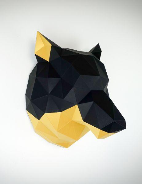 Papier Wolf Papercraft, Bastelbogen, Papertrophy, Paperwolf