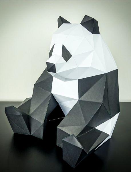 Paper Panda Papier low poly