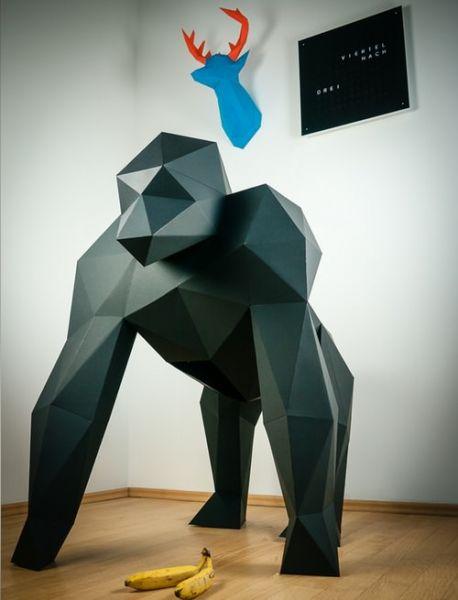 Papertrophy Gorilla papercraft